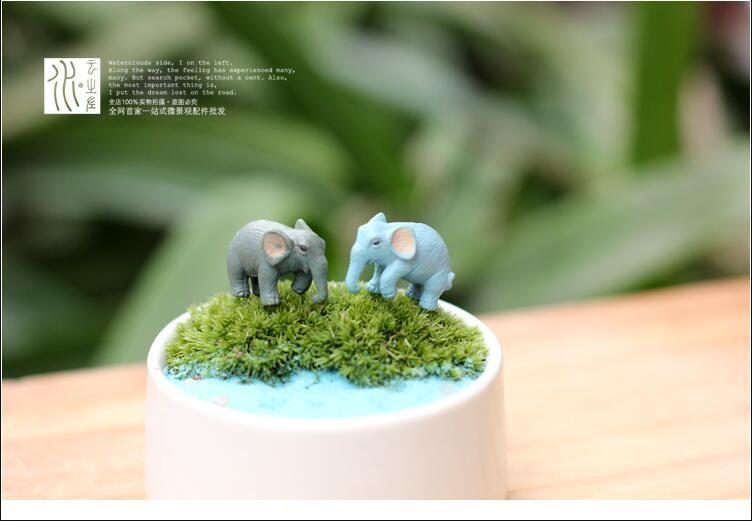 1,5*2,5 см Милая Миниатюрная модель из ПВХ, имитирующая маленького слона, детские игрушки, подарок, детская коллекция аниме, микро-Ландшафтные куклы