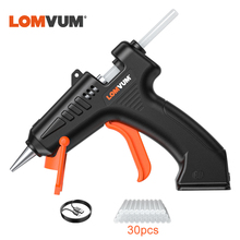 LOMVUM Cordless 4.2V Lithium-ion Hot Melt Glue Gun Rechargeable Lithium Battery Wireless Repair Tool Home DIY Tools Hot Glue Gun