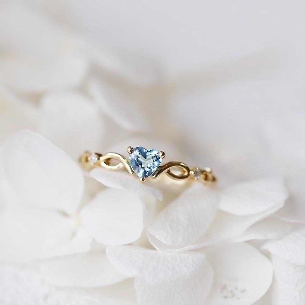 Huitan простое кольцо сердца для женщин, милые кольца для пальцев, Романтичный подарок на день рождения для девушки, модный камень циркон, ювелирные изделия 5