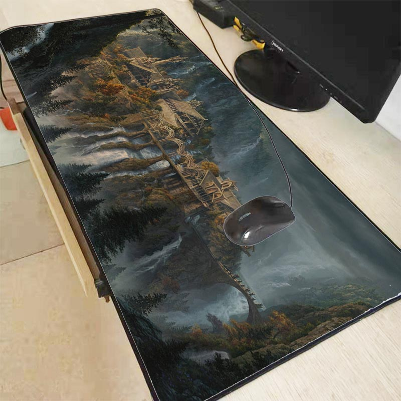 Lord Of The Rings Scenery Speed Gaming Mouse Pad For Gaming Mouse Keyboard Mat Lock Edge Mouse Pad For CSGO Dota 2 LOL