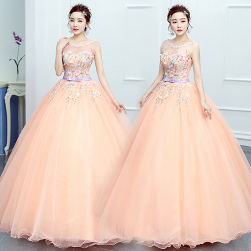2019 Wedding Celebrity Backless Print Pink Lace Dress Sexy Women Sleeveless Ball Gown Mesh Beach Style Party Dresses Wholesale - 2