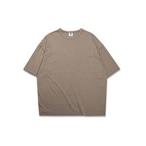 Image 3 - تيشرتات نسائية 10 ألوان كبيرة الحجم 80% قطن ملابس نسائية صيفية بأكمام قصيرة تيشرتات نسائية ملابس قميص كبير الحجم