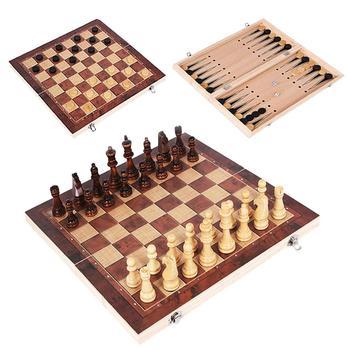 Juego de ajedrez internacional de madera 3 en 1 juegos de mesa...