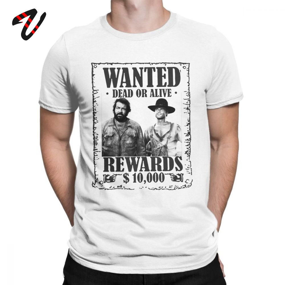 T Shirt Men Bud Spencer Terence Hill Wanted Lo Chimavano Classic Epic Movie Tshirt 100% Cotton Tees Graphic Tops Vintage T-Shirt