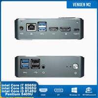 Мини ПК Intel Core i5 8265U i7 8565U i3 8145U Pentium 5405U маленький настольный компьютер Type-c Windows10 Linux 2ddr4 M.2 PCIE HDMI2.0