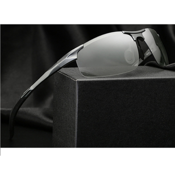 Metal Frame Polarized Sunglasses Men 3 Colors Black/Silver/Brown UV400 Driving Glasses For men