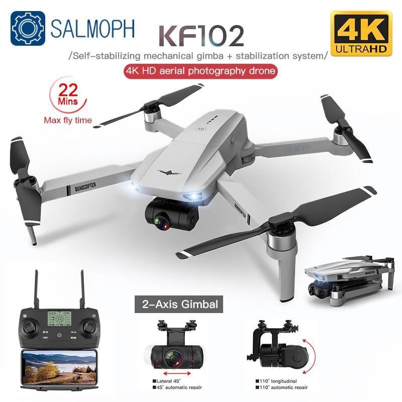 KF102 GPS Drone with WiFi 4K HD Camera 2-Axis Anti-Shake Gimbal Profesional Quadcopter Brushless FPV Mini Dron VS SG906 Pro 2 S3
