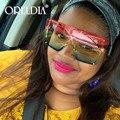 Mode Übergroßen Sonnenbrillen Frauen 2020 Luxus Marke Randlose Quadrat Sonne Gläser Metall Weibliche Shades UV400 Männer Gläser Gafas