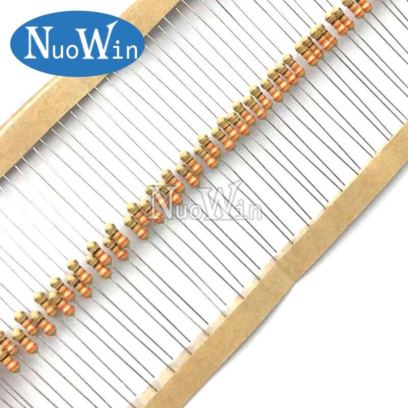 100PCS 1/4W Carbon Film Resistor 5% 0.25W 0R-22M 0 2.2 10 100 120 150 220 270 330 470