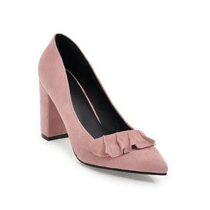 Image 3 - ZawsThia קיץ סתיו אביב נשים נעלי עקבים גבוהים בלוק קלאסי משרד משאבות צהוב מנטה ירוק נשי נעלי עקב נעלי עבודה
