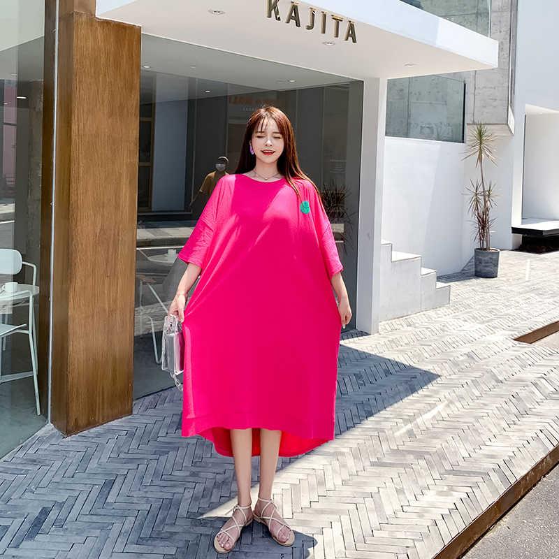 Oladivi מותג מזדמן נשים גדול בגדים בתוספת גודל חולצה 2020 קיץ חדש Loose חולצות גבירותיי קצר טוניקות חולצות Tees שחור