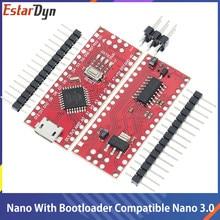 Nano Micro USB With The Bootloader Compatible Nano V3 Red Controller for Arduino CH340 USB driver 16Mhz Nano v3.0 ATMEGA168P