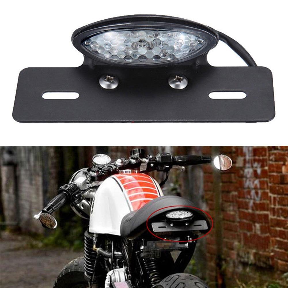 Motorcycle LED Rear Brake Tail Light Stop License Plate Lights For Motorbikes Truck ATV Trailer Cafe Racer