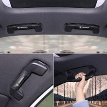 Car interior accessories car roof handle protection cover for skoda octavia fabia rapid yeti Kodiaq superb