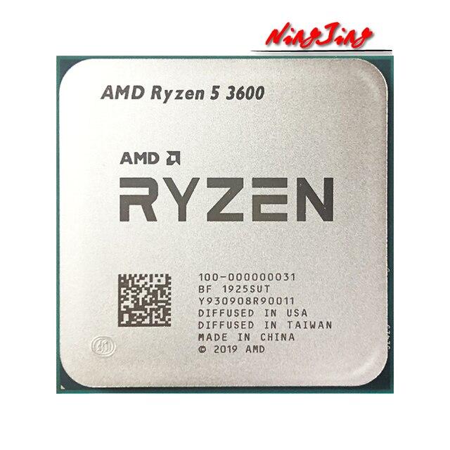 AMD Ryzen 5 3600 R5 3600 3.6 GHz Six-Core Twelve-Thread CPU Processor 7NM 65W L3=32M  100-000000031 Socket AM4 new but no fan 6