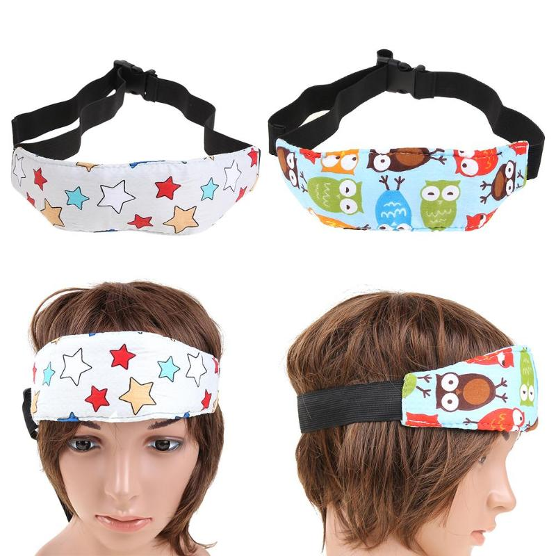 Cartoon Sleep Safety Strap Child Safety Seat Head Fixation Auxiliary Belt Adjustable Head Band Nap Aid Support Holder