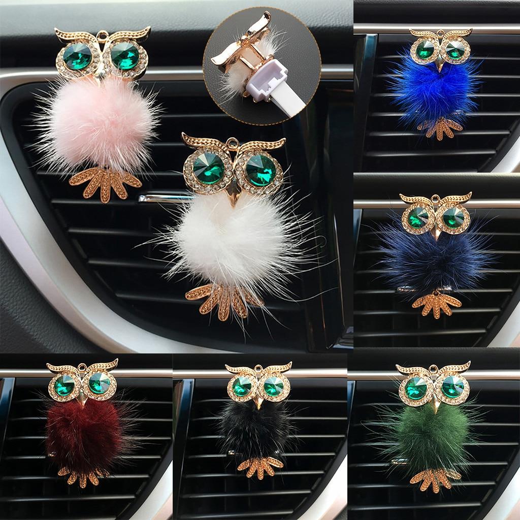 2020 yeni araba 1 adet elmas baykuş araba hava spreyi klip koku Aroma araba aksesuarları dekor beş tatlandırıcılar 3.5*6.7cm boyutu # LR5