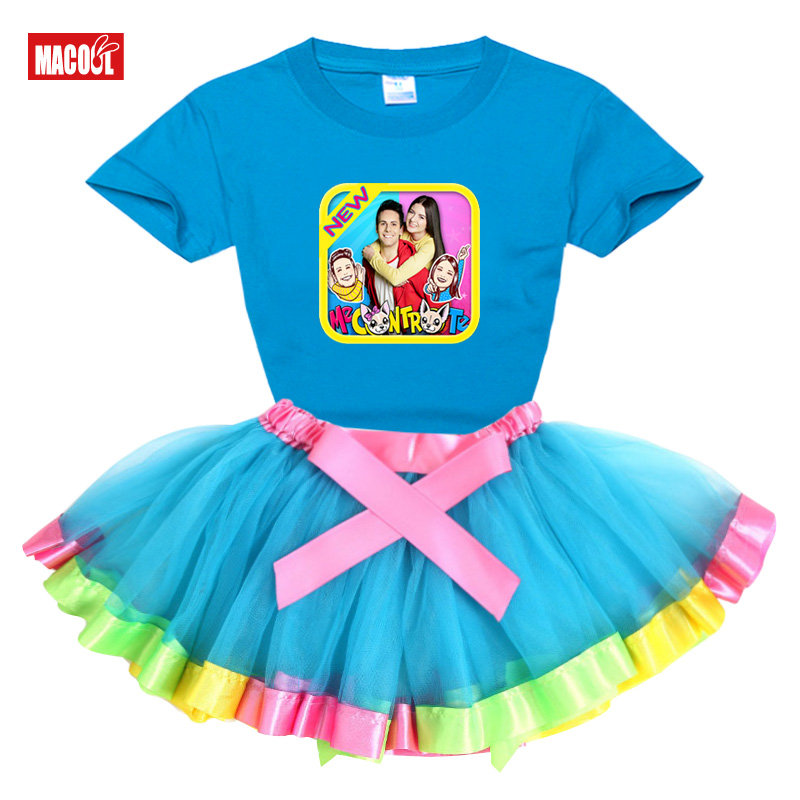 Girls Sets me contro te girls set tutu dress+t shirt2020 Summer Rainbow dress toddler babys cute dress Princess lovely clothing