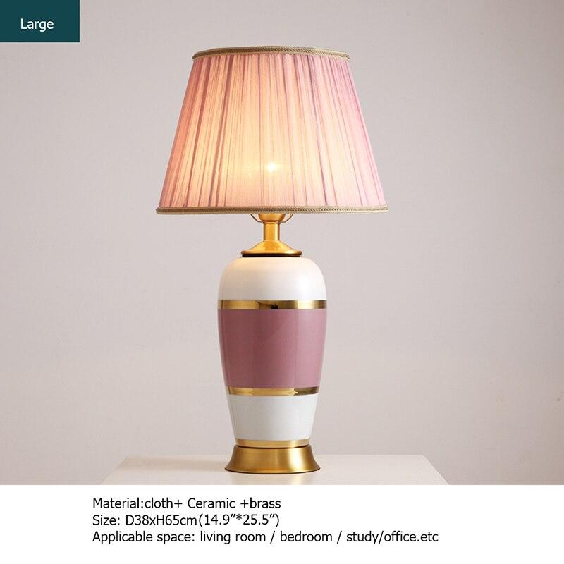 Керамические настольные лампы oufula розовый медный Настольный