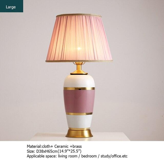 Фото керамические настольные лампы oufula розовый медный настольный цена