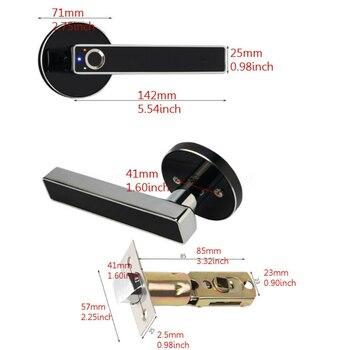 6V Stainless-Steel Fingerprint Lock Smart-Biometric Home Door Security