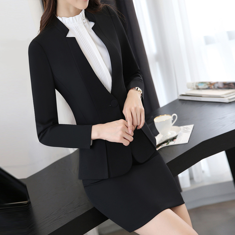 Office Lady Wear Pants Suits Spring Women Suits With Trouser Work Wear Blazer Set Plus Size Women Business Formal Office Suits