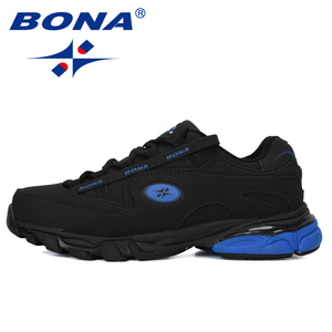 Image 4 - BONA New Popular Action Leather Running Shoes MenTrainers Sport Shoes Man Zapatillas Hombre Outdoor Sneakers Male Footwear