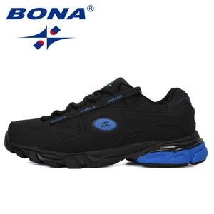Image 4 - BONA Nuovo Popolare di Cuoio Azione Runningg Scarpe MenTrainers Sport Scarpe Uomo Zapatillas Hombre scarpe Da Tennis Allaperto Calzature Maschili