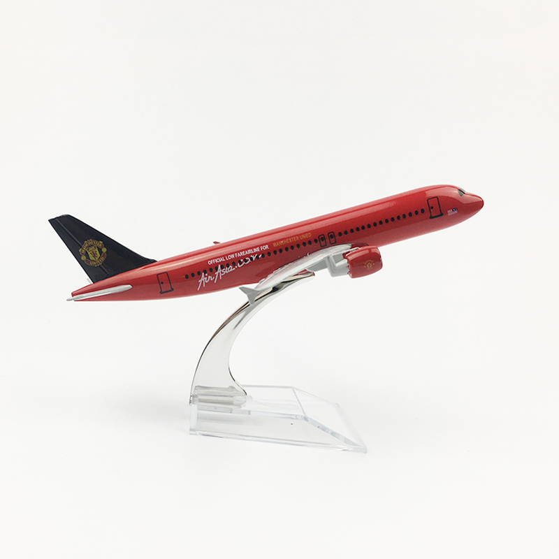 16cm 1/400 Scale Metal Airplane Model Aircraft Airbus A320 Asia Air Alloy Plane Model Toys Children Kids Gift For Collection