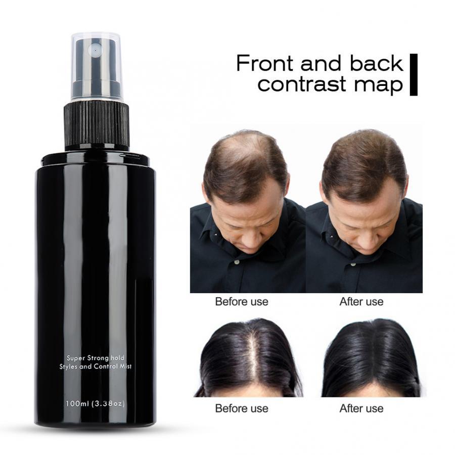 100 мл переключатель фиксатор спрей волокна для волос спрей для наращивания волос кератиновые волокна большие волокна для волос удерживающи...