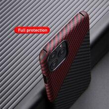 บางStrudyและน้ำหนักเบาสำหรับApple Iphone 11 Pro Maxคาร์บอนไฟเบอร์กันชนAramid Shell