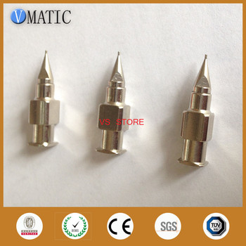 Free Shipping High Precision Stainless Steel Tapered Needle Nozzles 25G Dia 0.25mm Metal Dispensing Needle Tips