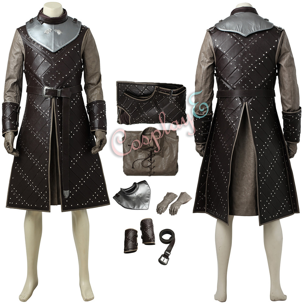 Jon Snow Costume Game Of Thrones Season 7 Cosplay For Halloween Party