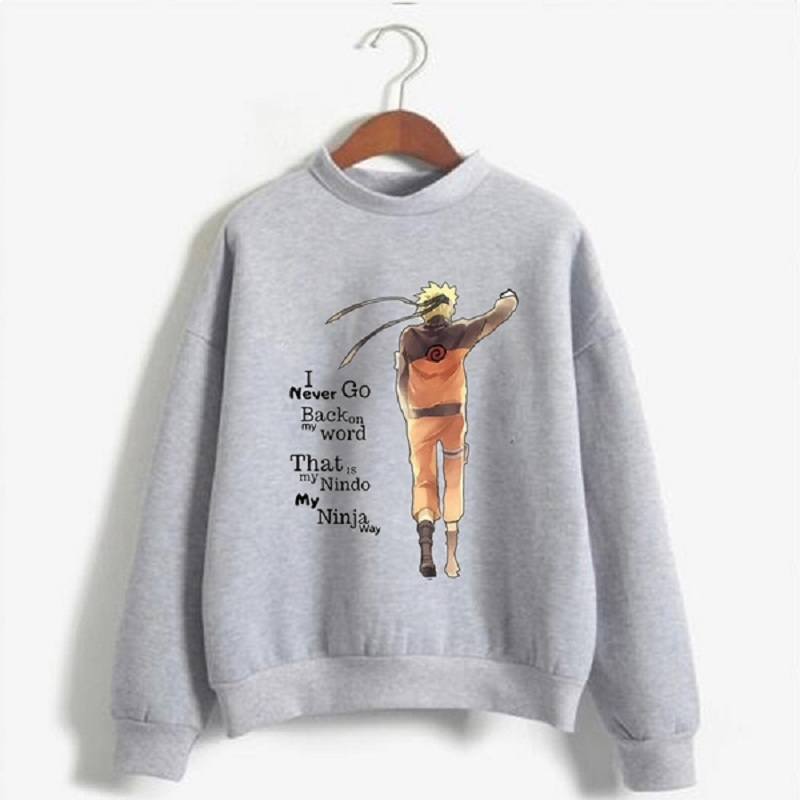 Naruto Sweatshirt Men Women Long Sleeve Anime Quality Streetwear Tops Pullover Men
