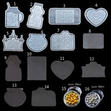 Maze Quicksand Pendant Mold Labyrinth Fish Tank Castle Camera Kechain Molds Kit A69F(China)