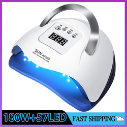 SUN X7 Max LED UV Lamp Powerful 180W Nail Lamp Upgrade Quick Dry Nail Gel Dryer Lamp Professional Phototherapy Manicure Lamp