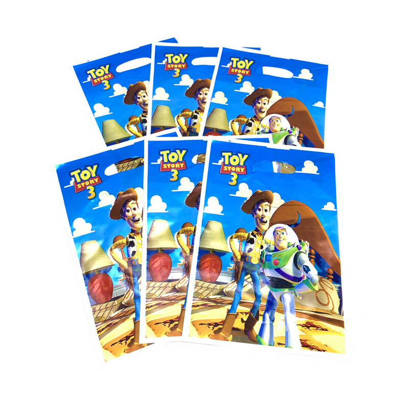 Disney Toy Story Theme Plates Cups Baby Shower Tablecloth Napkins Flags Decorate Boys Favors Tableware Set Birthday Party Banner in Disposable Party Tableware from Home Garden