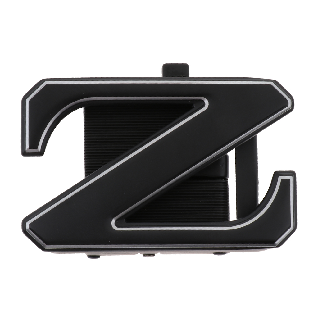 High Quality Men Automatic Ratchet Belt Buckles Alloy (35 MM)  Z-Type Man Cool Black Business Man Belt Buckle For 3.5cm Belt