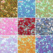 3mm colorful DIY Handmade Love Heart Sequin Crystal Epoxy Jewelry Accessories Resin Filler Sewing Paillette Loose Sequins