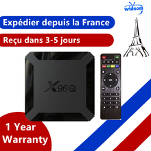 New X96q Android 10.0 TV box IPTV Box X96 q 1G 8G 2G 16G Allwinner H313 Smart Ip Tv m3u Set Top Box Ship From France
