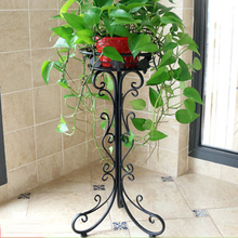 60cm Wrought Iron Plant Stand European Style Flower Pot Holder Wrought Iron Flower Pot Stands - White 2020 New Gifts
