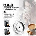230ML Für Nespresso Vertuoline Nachfüllbare Kapsel Edelstahl Kaffee Filter Espresso Mehrweg Crema Kaffee Pod Große Tasse