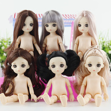16cm BJD Doll Reborn Baby 13 Moveable Jointed Dolls 3D True Eye Baby Doll Naked Nude Women Body Fashion Dolls Toy for Girls Gift недорого