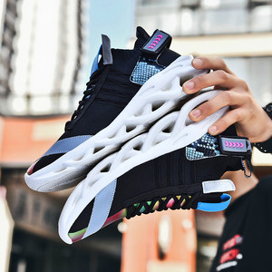 Image 5 - 高 品質の男性と女性のスポーツの靴加硫繊維靴通気性人格ステッチtenis feminino zapatos mujer