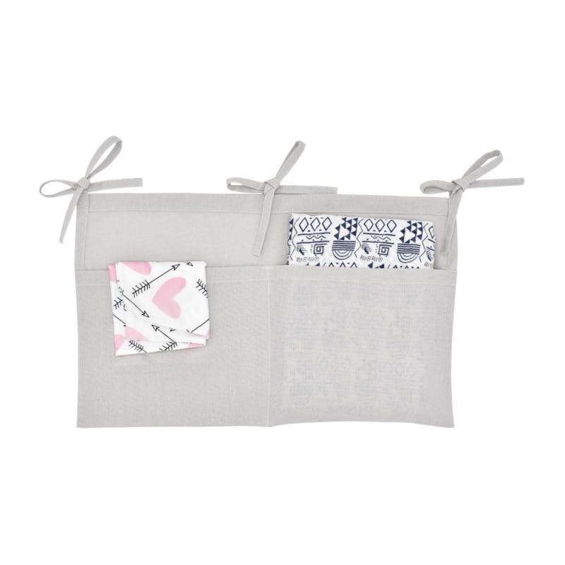 Multicolor Newborn Baby Infant Multi-Function Storage Bag Crib Hanging Bag Baby Diaper Organizer Toy Diaper Pocket Bedding Set