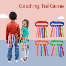 Los niños al aire libre juego divertido atrapar cola equipo de entrenamiento juguetes para niños y niñas de guardería trabajo en equipo juguete juego deportivo