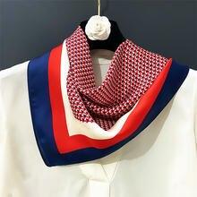 60 см роскошный брендовый квадратный шарф для женщин 2020 весенний