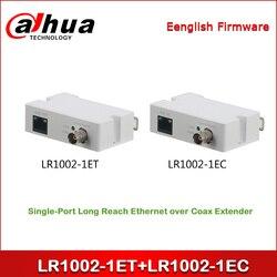 Dahua LR1002-1ET + LR1002-1EC Single-Port Lange Bereiken Ethernet over Coax Extender Een paar BNC