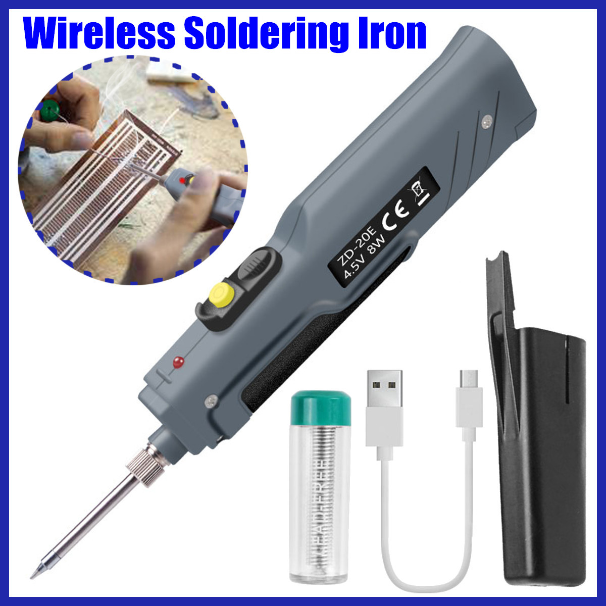 8W 4.5V Electronic Welding Battery Powered Soldering Iron Tool Electric Pen Solder Tin Wire Mini Welding Tools
