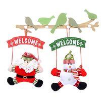 Home Christmas Tree Ornaments Doll Santa Claus Pendant Gifts Christmas Tree Ornaments